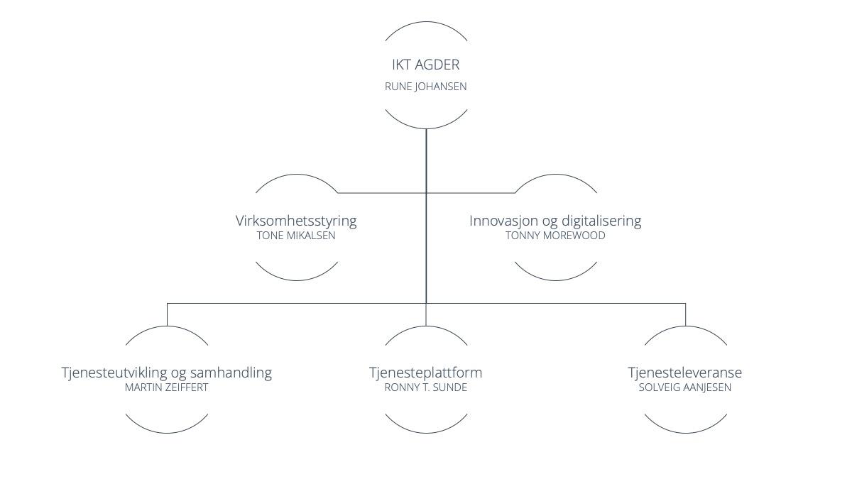 IKT Agder IKS organisasjonskart